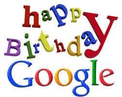Aniversário do Google 20 anos de Fundação
